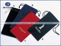 New design promotional velvet drawstring pen bag
