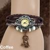 Wholesale High Quality Quartz Ladies Weave Wrap Leather Vintage Bracelet Watch
