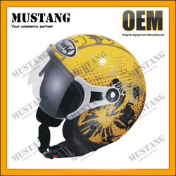 2015 New Design All Seasons Half Face Helmet With Anti-Scratch PC Material Visor