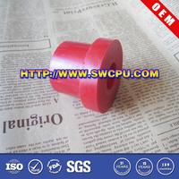 Small Red Polyurethane CNC Plastic Flanged Bushings