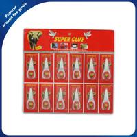 502 Cyanoacrylate Adhesive Super Glue 5g in Plastic Bottle 12 PCS / card
