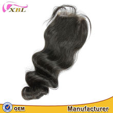 Wholesale price lace front closure with baby hair no shedding free part lace closure