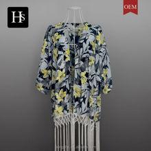 Muslim tunic high fashion printed custom print crop top online shopping plus size women clothing HSB6143