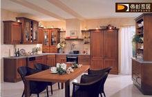 Las ventas calientes 2013 Foshan moderna de madera maciza clásico diseño personalizado gabinete de cocina de servicio rápido lib
