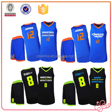 Wholesale Dry fit Interlock Basketball uniform customize basketball team wear