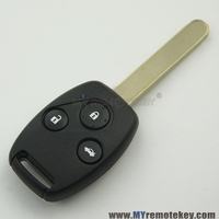 Remote key 3 button 434mhz ID46 chip HON66 profile for Honda Accord remote key