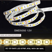 DC12V LED FLEXIBLE TAPE STRIPE 5050 60LED/M 4.8W/M CE&RoHS CERTIFICATE WHOLESALE NO-WATERPROOF 1 CHIP/LED WHITE/WARM WHITE/BLUE
