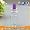 rubber top Boston Round plastic e-juice dropper bottles with glass dropper