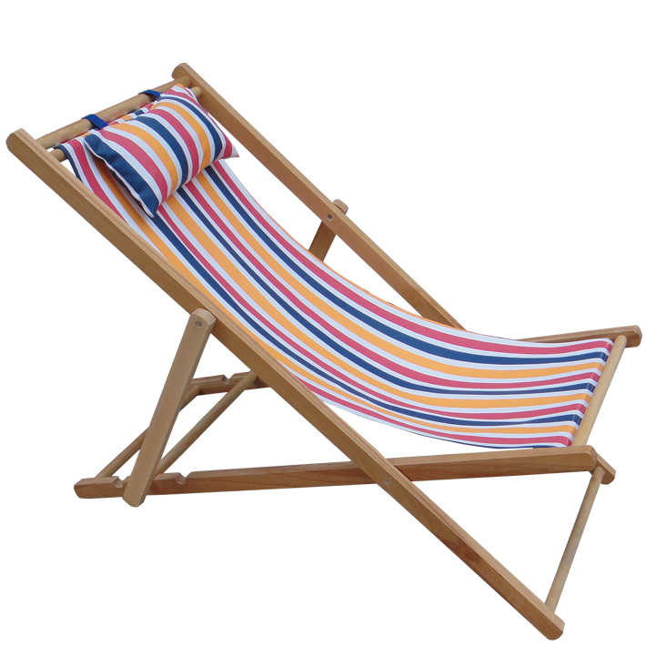 Beach Chair deck Chair factory Wholesale Cheap Reclining Beach Wooden Folding