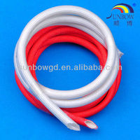 Softness / Flexibility / Limpness / Ductility / Elasticity Silicone Rubber Tube Sleeve(Inside Rubber & Outside Fiber)