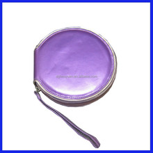 new design quick sellable dvd leather case with zipper made in china