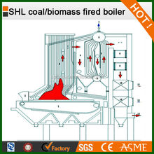 *SHL Field-Assembled Water Tube Series Coal/Biomass Fired Grate Type used steam boiler in india *