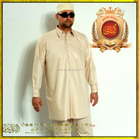 Oman style islamic clothing muslim men thobe qatar style with pants