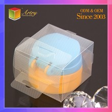 Wholesale Custom PVC PET PP Small Clear Hard Plastic Packaging Boxes With Hinged Lid