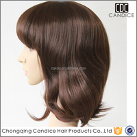 Baseball Cap with Wig Asian Women Hair Wig All Kind of Wig