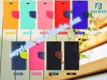 Hot Selling!! Double color Pu+TPU phone case for samsung N4