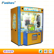 Funshare popular coin operated claw machine game toy crane claw prize vending machine
