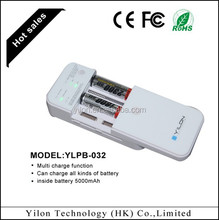 for ipad/iphone/samsung multi function5000 mah automatic battery charger 1.2v li-ion