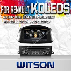 WITSON FOR RENAULT KOLEOS 2014 TAPE RECORDER DVD WITH 1.6GHZ FREQUENCY DVR SUPPORT WIFI APE MUSIC RAM 8GB