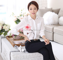 Fashion design new blouse summer ladies chiffon shirts