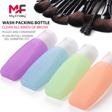 High quality custom logo safety airless silicone bpa free bottle cleaning brush