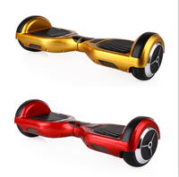 Popular white smart two wheels scooter hot sale electric balancing unicycle with LED light hoverboard
