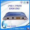 2*LAN+1*FXS EPON ONU Fiber Optic Network Router /similar with ZTE ONU F412