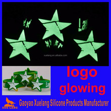 custom glow in dark silicon bracelet wristbands for events