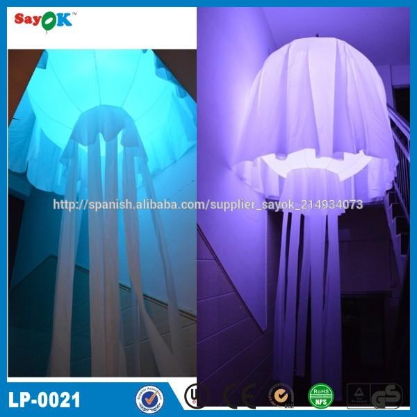 de interior de navidad inflable medusas con la luz