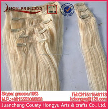 165g/set 10pcs 21clips clip on human hair extensions,full head clip-on human hair extensions