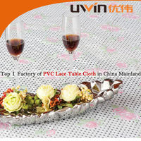 Vinyl floral lace pvc oilproof heat resistant western style tablecloth