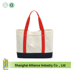Wholesale Heavy Duty Cotton Canvas Shopping Tote Bag With Customized Logo