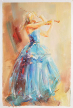 Decorative Wall Impressionist Art Dancing Girl Oil Painting