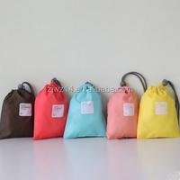 2015 household lightweight economy drawstring cotton backpack muslin laundry shoe gift bag
