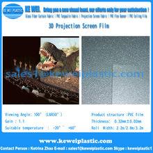 3d pantalla de proyección de la película para la ventana de exhibición de la tienda