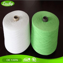Cnlucky factory recycled cotton polyester towel yarn , low price