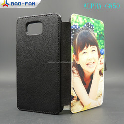 Blank Sublimation Leather Phone Case For Samsung Galaxy Alhpa G850 PU Leather with White Fabric