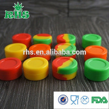 2015 RHS mini food grade silicone customized silicone bho containers, collapsible concentrate oil wax containers silicone jars