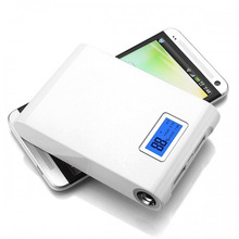 powerful portable back up power bank charger with LED light display li-ion battery cell CE, ROHS, FCC