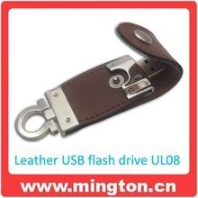 Leather case usb flash drive gift box