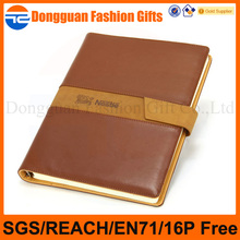 Factory supply school notebook Custom corporate gift leather notebook