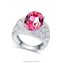 High quality fashion design hot sale crystal Engagement Ring