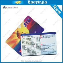 Cheap Option paper mobile scratch card