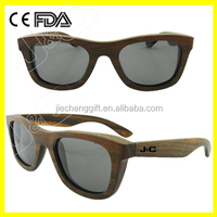Handmade bamboo and wood glasses frame with prescription lens