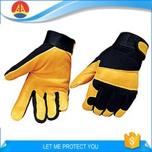 Wear Resistant Protection Cow Leather Mechanic Working Safety Gloves