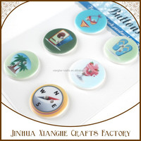holiday set printed round plastic snap button wholesale