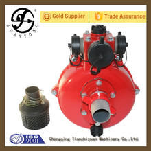 Twin impeller pump 2 inch three way outlet high pressure irrigation usage clean water pump