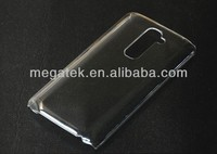 Clear Transparent crystal pc case for LG G2 , for LG G2 CASE
