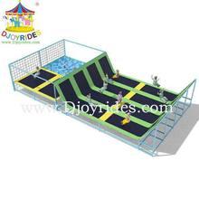 Kids Indoor Trampoline Bed Basketball Hoop