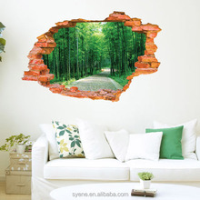 decoration of houses interior 3d window bamboo wall sticker art viny decorative 3d wall decals 3d pictures home decoration